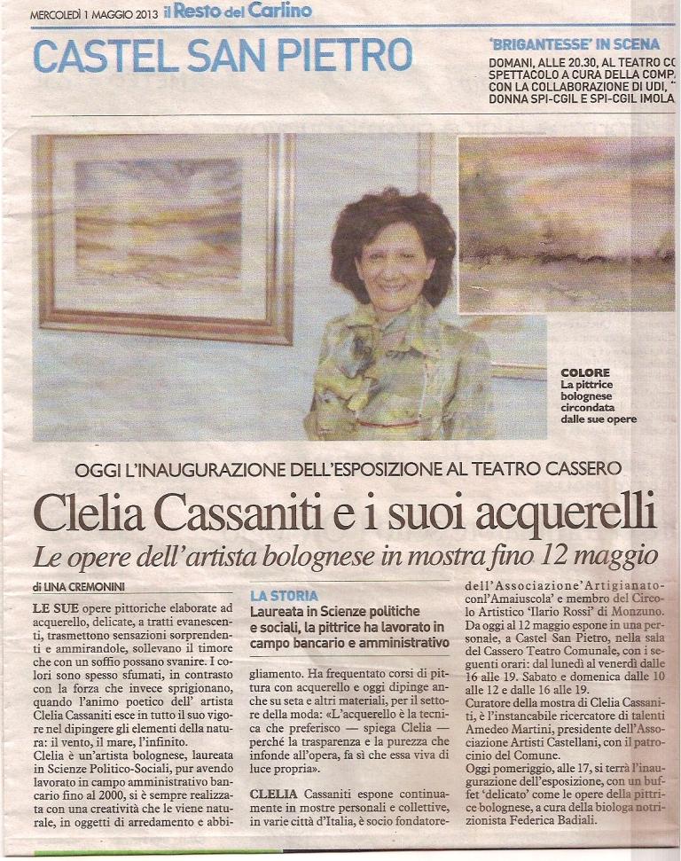 Il Resto del Carlino - Imola - 1 Maggio 2013