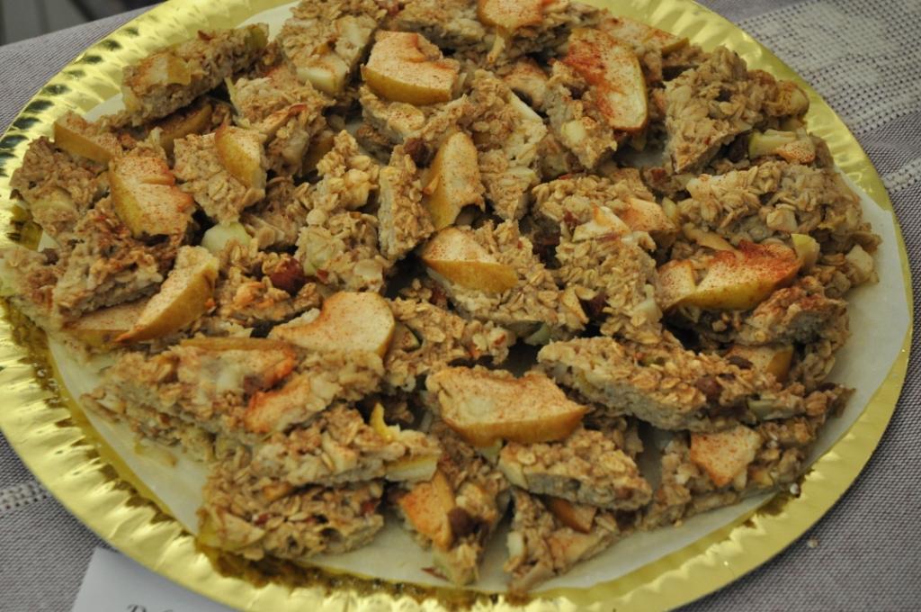 torta di mele e fiocchi di avena